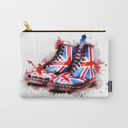 Grunge Union Jack Flag Dr Martens Carry-All Pouch