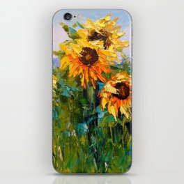 Sunflowers in the wind iPhone Skin
