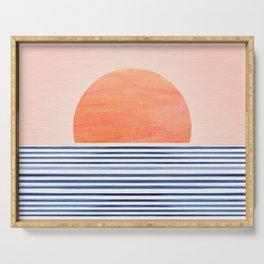 Summer Sunrise - Minimal Abstract Serving Tray