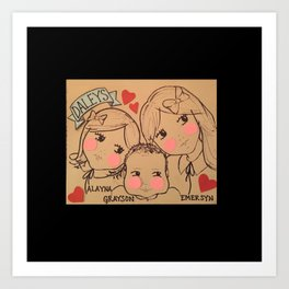 Cousins - Daleys Art Print