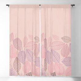 LEAVES ENSEMBLE ROSE Blackout Curtain
