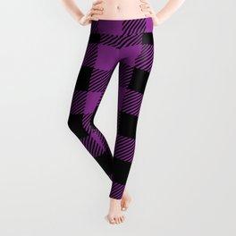 Buffalo Plaid - Purple & Black Leggings