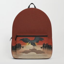 Blue Heron Reflection Backpack