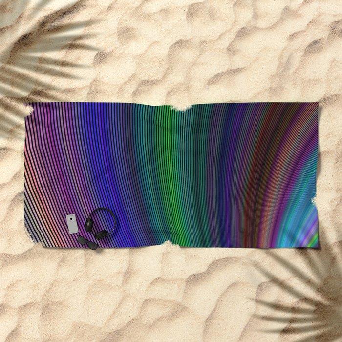 Vivid storm Beach Towel