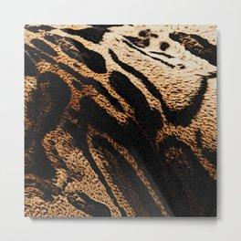 Fur pattern clouded leopard, big cat fur Metal Print