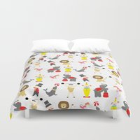 circus Duvet Covers featuring Circus by Lydia Meiying