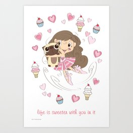 BellaRina - Life Is Sweeter With You In It Art Print