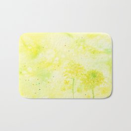 Sparking Summer , Art Watercolor Painting by Suisai Genki Bath Mat
