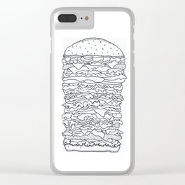 Ultimate Burger Clear iPhone Case