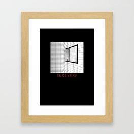scrivere Framed Art Print