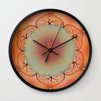 chakra Wall Clocks featuring Sacral Chakra by brenda erickson