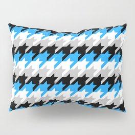 Neon Goth Houndstooth Pattern (Blue) Pillow Sham