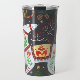 Holiday Reindeer Travel Mug