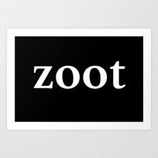 zoot inverse Art Print