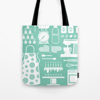 baking Tote Bags featuring Baking Graphic by Modart Design