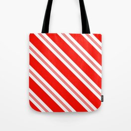 Candy Cane Stripes Holiday Pattern Tote Bag