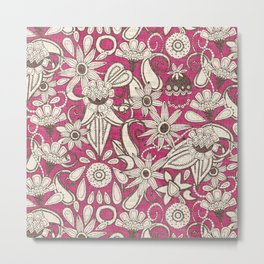 sarilmak pink brown Metal Print