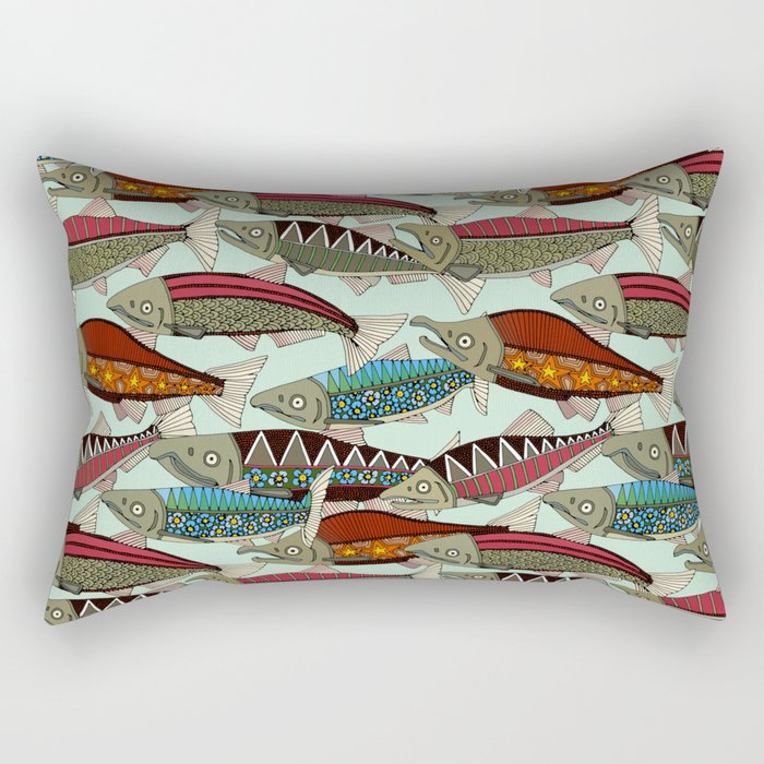 Alaskan salmon mint Rectangular Pillow