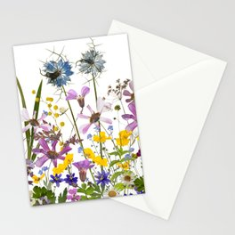 Pressed And Dried Midsummer Flowers Meadow Stationery Cards