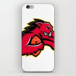 Wild Boar American Football Mascot iPhone Skin