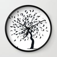 clear Wall Clocks featuring Clear by zabalza