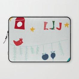 Holiday bird gray Laptop Sleeve