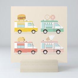 Food Trucks Mini Art Print