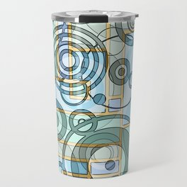 In the Works-Abstract Art Travel Mug