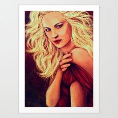 Candice Accola  Art Print
