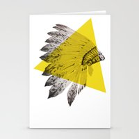 headdress Stationery Cards featuring headdress by morgan kendall