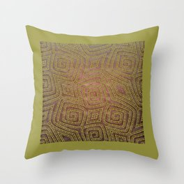 Tribal Spiral Diamond Pattern Throw Pillow