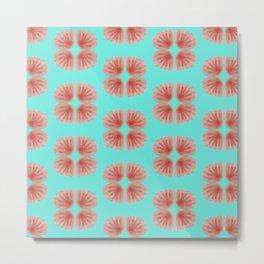 Shell Tie Dye Metal Print