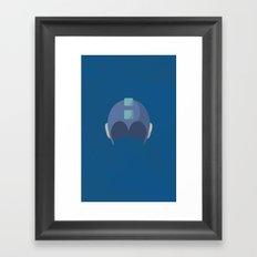 Cool Megaman Helmet Picture Framed Art Print
