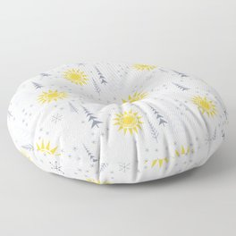 Winter Sunshine Floor Pillow
