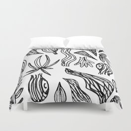 Plant Girl Duvet Cover