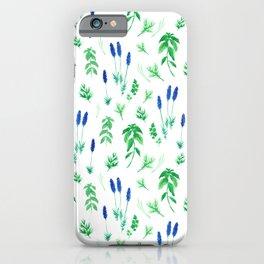 Watercolor lavender & basil iPhone Case