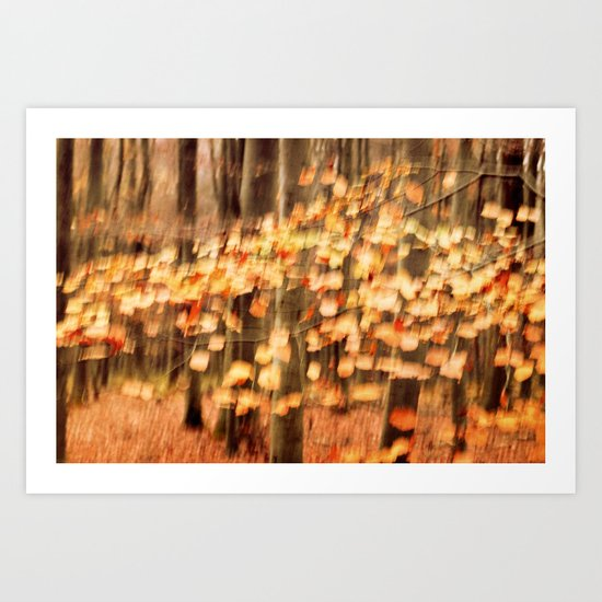 dancing leaves II Art Print