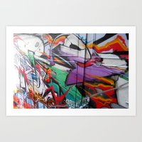 grafitti Art Prints featuring Grafitti by Anna Mundy