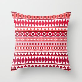 Pattern with hearts for Valentine's day Throw Pillow