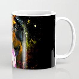 rottweiler dog long tongue ws Coffee Mug