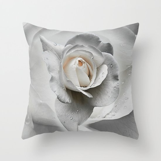 tears in the rosegarden Throw Pillow