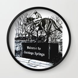 """Native Dancer"" Saratoga Springs, Thoroughbred Racehorse, Kentucky Derby, Equine Horse Artwork Wall Clock"