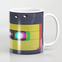 cassette Mugs featuring Cassette by Michal