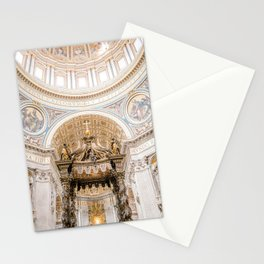 Rome 0002: Saint Peters Cathedral, San Pietro, Vatican City, Rome, Italy Stationery Cards