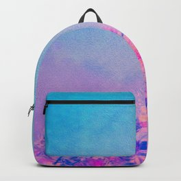 Spring Purple Dream (Neon Pink Wildflowers, Indigo Sky) Backpack