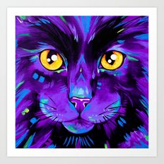 Cats in Colour 2 Purple version Art Print