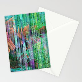 350 3 Abstract Botanical Leaves Stationery Cards