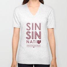 Locals Only — Sinsinnati, OH Unisex V-Neck