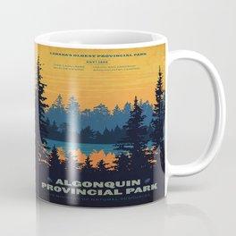Vintage Algonquin Canada Travel Poster Coffee Mug
