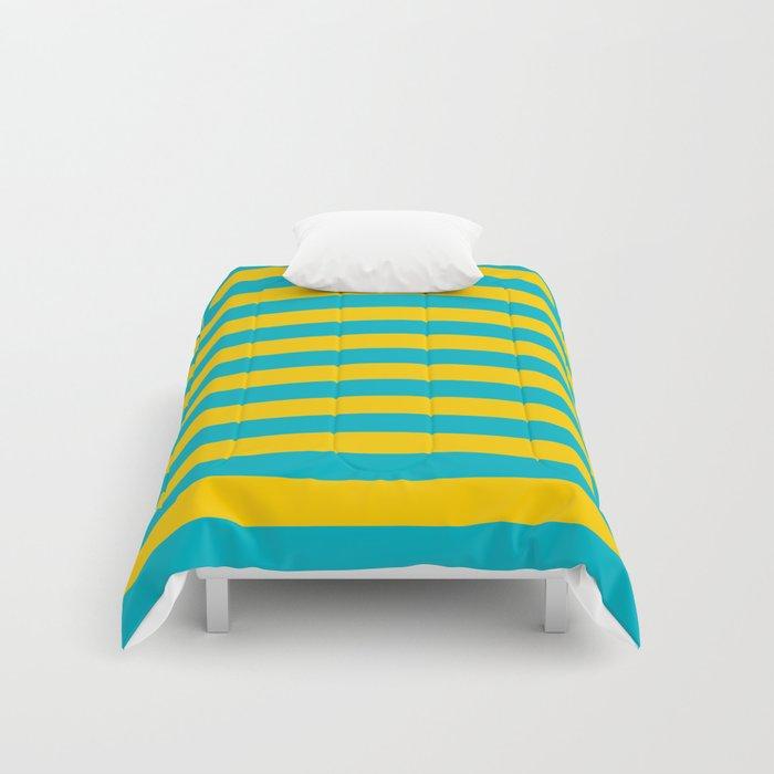 Kazakhstan Flag Stripes Comforters By Tony4urban Society6